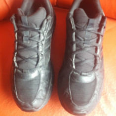 Adidas originali, piele natural+textil, nr.45-29 cm. - Adidasi barbati, Culoare: Negru, Piele naturala