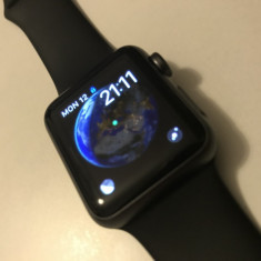Apple Watch Negru 38mm - Smartwatch Apple, Aluminiu