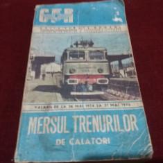 MERSUL TRENURILOR DE CALATORI 1974-1975