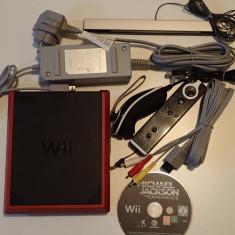 Consola Nintendo Wii Mini joc Michael Jackson Experience impecabil Rosu deosebit