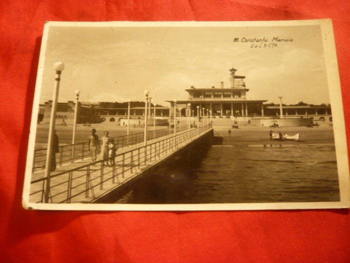Ilustrata- Mamaia - Cazinoul vechi , circulat 1938 foto mare