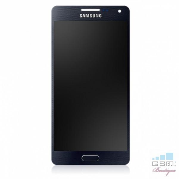 Display Cu TouchScreen Samsung Galaxy A5 A500F Original Negru foto mare