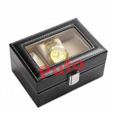Cutie caseta eleganta depozitare cu compartimente 3 Ceasuri TRANSPORT GRATUIT