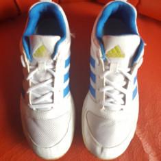 Adidas originali, piele natural+textil, nr.36, 5-23 cm. - Adidasi dama, Culoare: Alb, Piele naturala