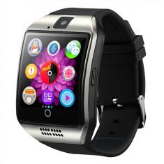 Ceas smartwatch Vogue Q18 -ecran curved- cartela SIM-TF card-1,54 HD, Aluminiu, Argintiu, Android Wear