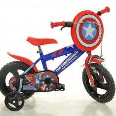 Bicicleta DINO BIKES - Capitan America 412UL CA - Bicicleta copii