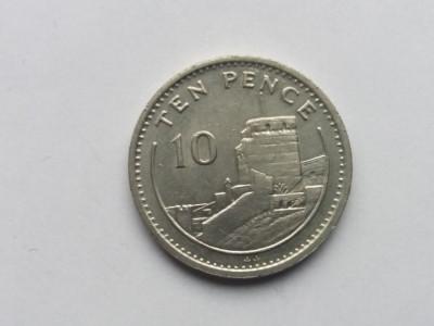Gibraltar 10 pence 1991 foto