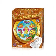 Set creatie pentru pictura Orange Elephant, Sea fashion