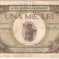 ROMANIA 1000 LEI 28 APRILIE 1939 SUPRATIPAR TARANCUTE F - Bancnota romaneasca