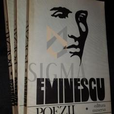 MURARASU D. (Dedicatie si Autograf DAN ZAMFIRESCU!) - POEZII de M. EMINESCU (3 Volume)