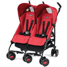 Carucior Pliko Mini Twin Red - Carucior copii 2 in 1 Peg Perego