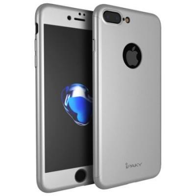 Husa 360º iPaky pentru iPhone 7PLUS cu folie de protectie inclusa - Silver foto
