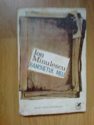 k3 Ion Minulescu - Banchetul Meu foto