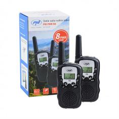 Resigilat : Statie radio walkie talkie PNI PMR R8 emisie receptie, set 2 buc