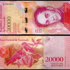 VENEZUELA 20000 bolivares 2016 - 2017 - UNC - bancnota america