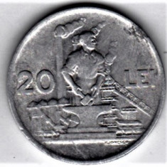 20 lei 1951 XF/a.UNC RPR (10) - Moneda Romania, Aluminiu