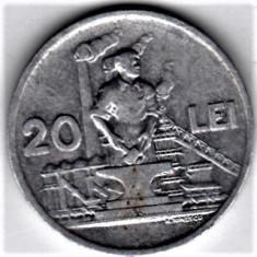 20 lei 1951 a.UNC/UNC RPR (4) - Moneda Romania, Aluminiu