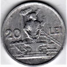 20 lei 1951 VF+ RPR (15) - Moneda Romania, Aluminiu