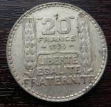 (A62) MONEDA DIN ARGINT FRANTA - 20 FRANCS 1933, 20 GRAME, Europa