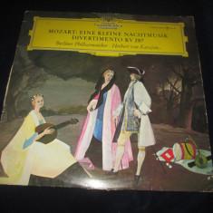 Mozart.von Karajan Eine Kleine Nachtmusik.Divertimento KV 287_vinyl, LP _ DG - Muzica Clasica Deutsche Grammophon, VINIL