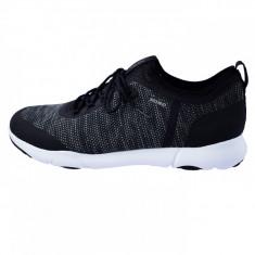 Adidasi barbati, din textil, marca Geox, cod U826AB-C9999-1, culoare negru, marimea 44
