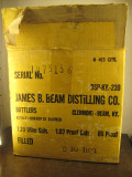 BOX - WHISKY WHISKEY, JAMES B. BEAM, CL 75  anu 03/10/1971