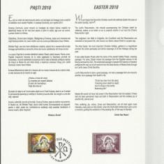 Romania 2010 - LP 1858a - Sfintele Pasti - carton filatelic