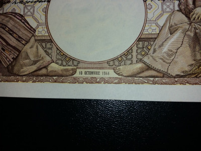 bancnote romanesti 2000lei 1944 octombrie filigran traian aunc foto