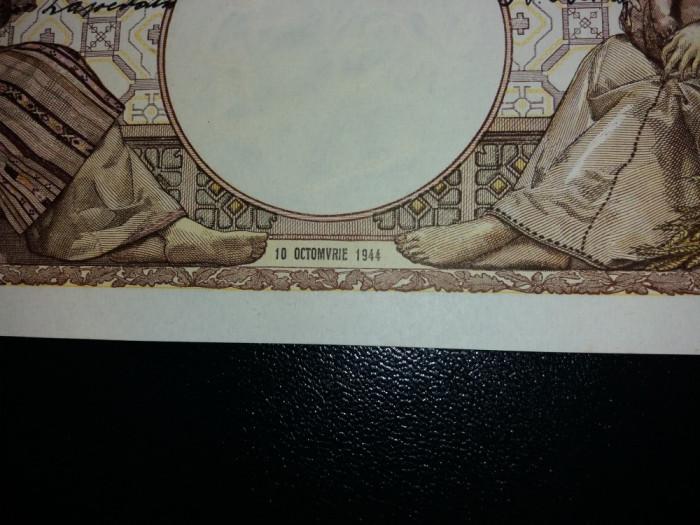 bancnote romanesti 2000lei 1944 octombrie filigran traian aunc