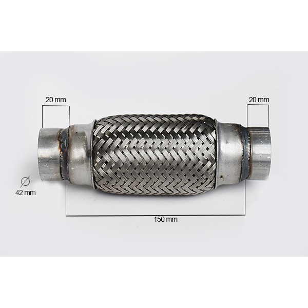 RACORD FLEXIBIL toba esapament INNER & OUTER BRAID (B) 42x150 MM IS-33733