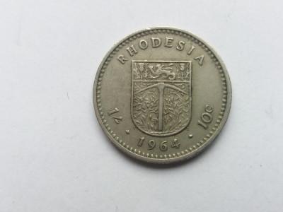 Rhodesia -2 schilling 1964 foto