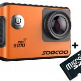 Camera Video Sport 4K iUni Dare S100 Orange, WiFi, GPS, mini HDMI, 2 inch LCD + Card MicroSD 8GB Cadou - Camera Video Actiune