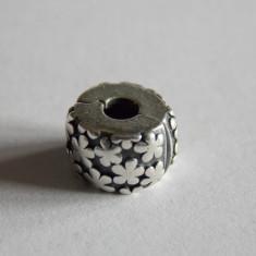 Talisman Pandora din argint-clips cu flori 790533 - Bratara argint