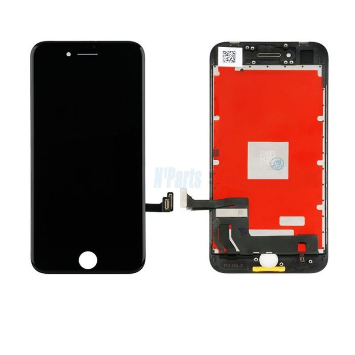 Display Iphone 8 lcd touchscreen complet negru / alb + folie sticla foto mare