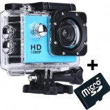 Camera Sport iUni Dare 50i HD 1080P, 12M, Waterproof, Albastru + Card MicroSD 8GB Cadou