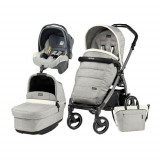 Carucior 3 in1 Book Plus 51 S Black Completo Elite Luxe Opal, Peg Perego