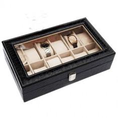 Cutie Ceas Swatchuri, Caseta ceasuri Black 12 compartimente