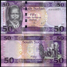 Sudanul de Sud 50 pounds 2017 - UNC - bancnota africa