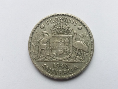Australia 1 florin 1946 foto