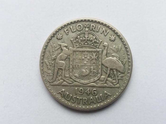 Australia 1 florin 1946 foto mare