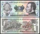 !!! RARR :  HONDURAS  -  5 LEMPIRAS  2000  -  P 85a - UNC