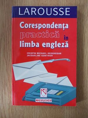 CORESPONDENTA PRACTICA IN LIMBA ENGLEZA- GONTHIER foto