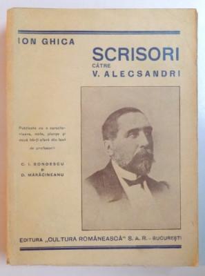 Scrisori catre V.Alecsandri de Ion Ghica,1940 foto