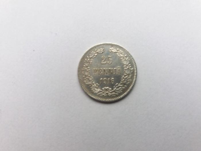 Finlanda 25 pennia 1916 foto mare
