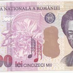 ROMANIA 50000 LEI 2000 UNC - Bancnota romaneasca
