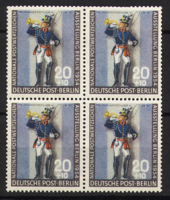 Bloc de 4 timbre Berlin 1954 - emisiune completa MNH foto mare