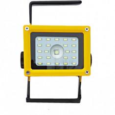 Proiector Portabil LED Acumulatori 18650 lampa lucru  proiector si lanterna lupa