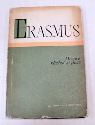 DESPRE RAZBOI SI PACE-ERASMUS 1960 foto