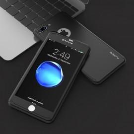 Husa 360 GRADE compatibila iPhone 7 PLUS cu Folie de protectie inclusa - BLACK foto