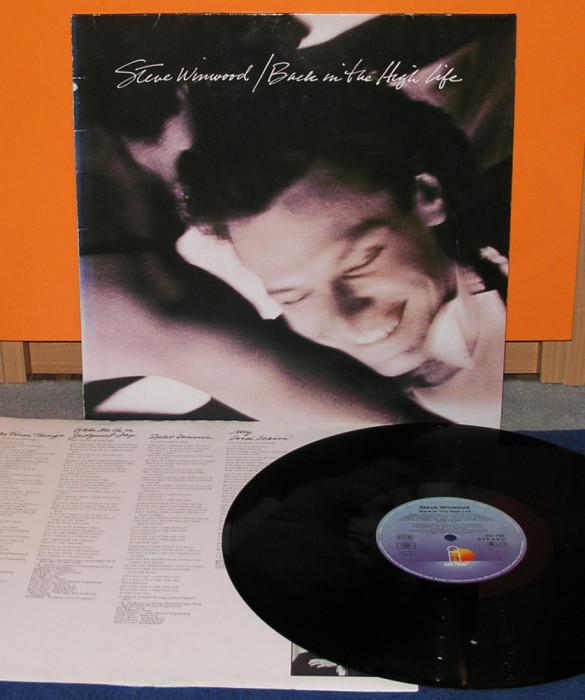 Steve Winwood (Traffic) - Back in the High Life, GER, VG+, disc vinyl vinil